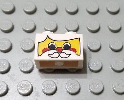 1x Brick Brique 1x2 Black /'POLICE/' Pattern 3004pb003 Lego