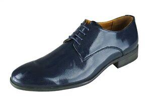 new arrival 37236 6e984 Dettagli su Scarpe uomo Diamond Class blu scuro lucide man's shoes  calzature eleganti