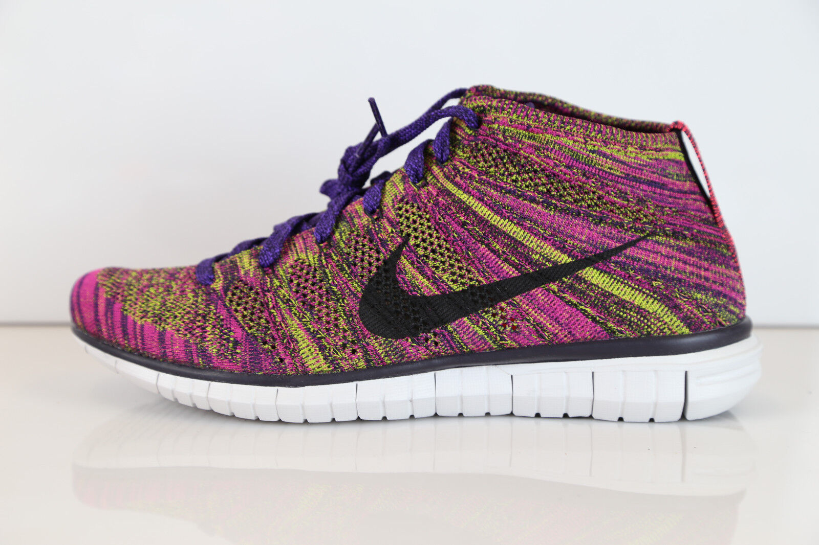 Nike Free Flyknit Chukka Grand Purple Fireberry 639700-501 10-12 htm 1 3