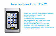 coded keypad, RFID, PTE, Alarm,2000 codes, 20 Cards, Metal Vandal Proof