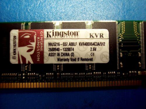 Kingston 512MB PC3200 DDR-400MHz non-ECC KVR400X64C3A//512