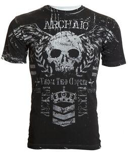 Archaic-AFFLICTION-Men-T-Shirt-BLOODY-HANDS-Skull-Tattoo-Biker-MMA-M-4XL-40