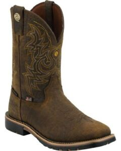 Cowboy Boots Justin Brown George Strait Waterproof Boot