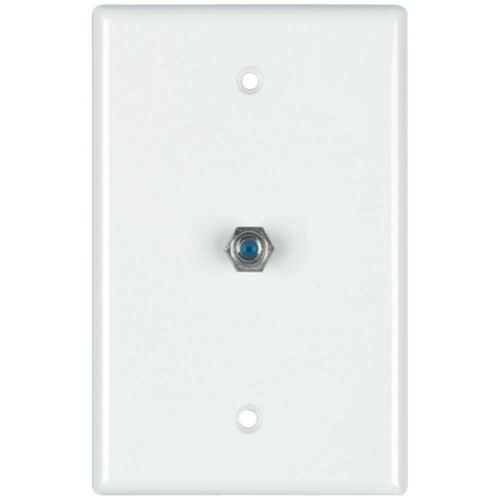 5 pack White Coax Cable Wall Plate