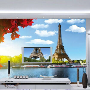 Large Eiffel Tower Wall Paper Wall Print Decal Wall Deco Indoor wall