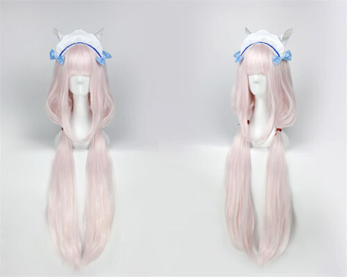 Nekopara Chocola Vanilla Maid Servant Dress Cosplay Costume Wig Hair Ear Tail