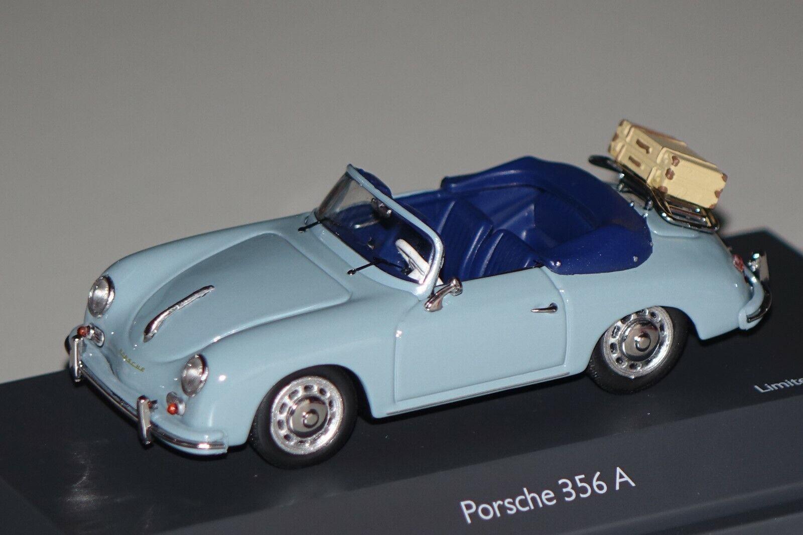 Porsche 356 a converdeible con maleta 1 of 750 blu 1 43 roadster 450258400 nuevo & OVP