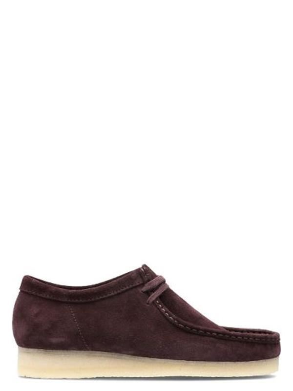 Wallabee Clarks Scarpa-Borgogna in Pelle Scamosciata Clarks Wallabee Originals 48483b