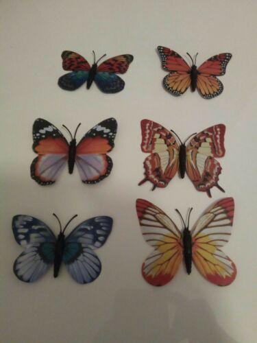 Leuchtschmetterlinge 6er Set selbstklebend  Schmetterlinge glow in Dark Deko NEU