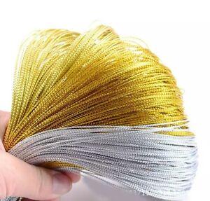 100Yards-Multicolor-Metallic-thread-Ribbon-Fabric-Cloth-Felts