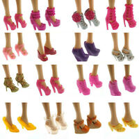 Baby Kids 10 Pairs Shoes Handmade High Quality Original For Barbie Doll