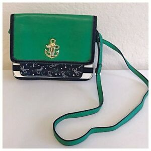Anchor Emblem Green Betsey Crossbody Bag Johnson RA5j3L4