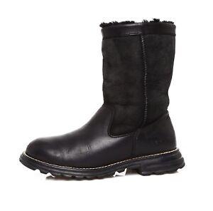 1064c5539e67 ... get image is loading ugg brooks women 039 s black leather short 497e4  09d36