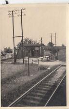ORIG. foto circa 6x5cm ferroviario carcerieri casetta (g242)