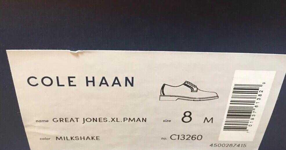 Cole Haan Great Jones XL Pman Postman Tan Suede Bucks Bucks Bucks Men's 8 M NIB  198 C13260 50112b