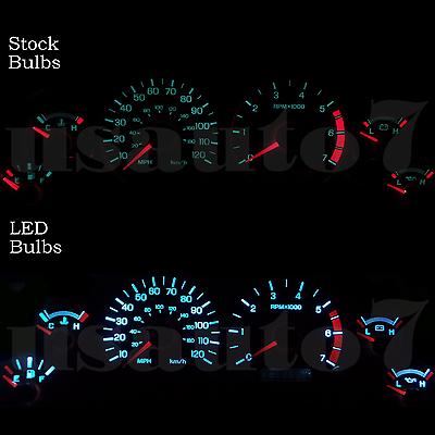New Dash Instrument Cluster Gauge Aqua Blue Led Light Kit Fit 99 02 Ford Mustang Ebay