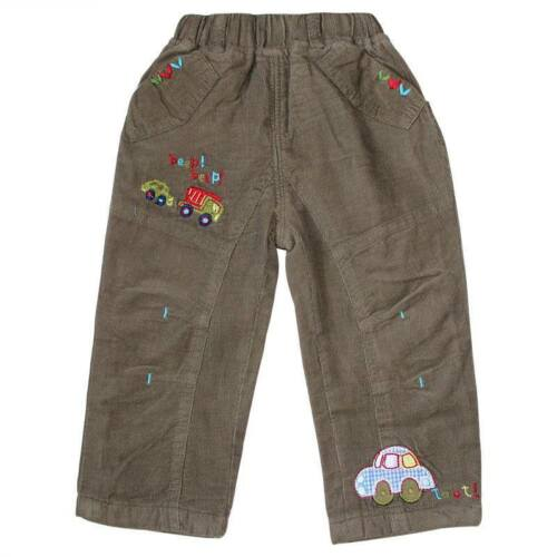 Boys Cartoon Car Cute Army Green Trousers‎ Only 12-18Months left