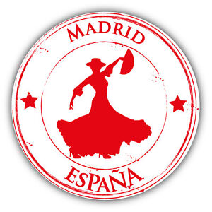 Image Is Loading Madrid City Spain Dance Grunge Travel Stamp Car