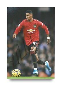 Marcus-Rashford-Hand-Signed-6x4-Photo-Manchester-United-England-Autograph-COA