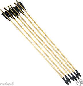6X-Turkeys-Feather-Wood-Shaft-Archery-Hunting-Recurve-Bow-Mitsubishi-ArrowHead