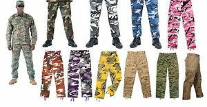 Military-BDU-Pants-Army-Cargo-Fatigue-Camouflage-Camo