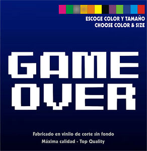 Sticker-Vinilo-GAME-OVER-Retro-Arcade-Bartop-Custom-Pegatina-Vinyl