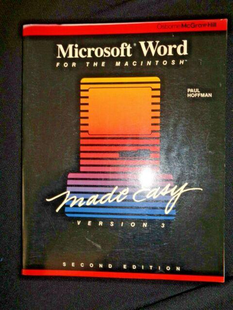 Microsoft Word Made Easy For Apple Macintosh Version 3 by Paul Hoffman Computers