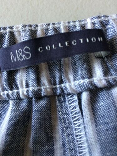 M/&S Collection Ladies Linen Mix Shorts Size 12 BNWOT
