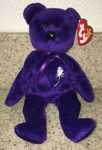 58b7040db16 ... 1997 Princess Diana Bear Retired TY Beanie Baby PE Pellet   With Stamp  On Tag