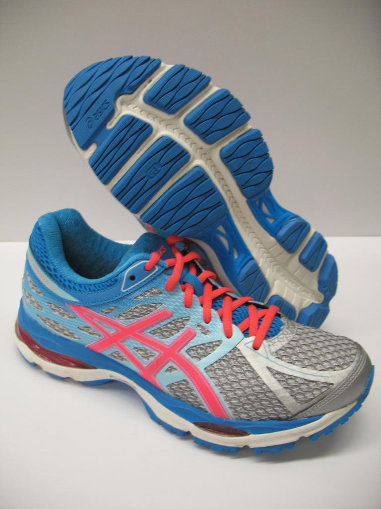 Asics T5D8N Gel Cumulus 17 Running Training Racing Shoes Silver Blue Womens 7
