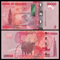 Uganda 20000 (20,000) Shillings, 2015(2016), P-53 NEW, UNC
