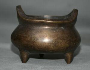 Ancien-split-Bouddhisme-chinois-Qianlong-annee-de-bronze-de-cuivre-fissure