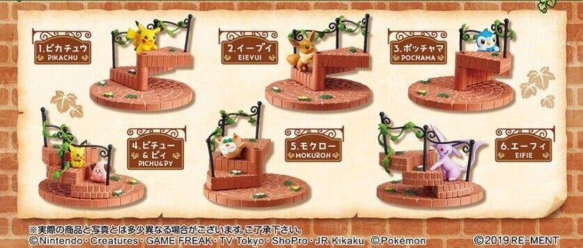 05 19 19 19 Re-Ment Miniature PokeMon Pikachu Steps Stair Full Set of 6 pieces 113de4