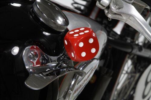 DICE HANDSHIFT KNOB Red White o Black Shifter 29-73 Flathead Knucklehead Panhead