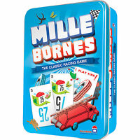 Mille Bornes Card Game Classic French Auto Car Racing Mile Bourne Tin Holder