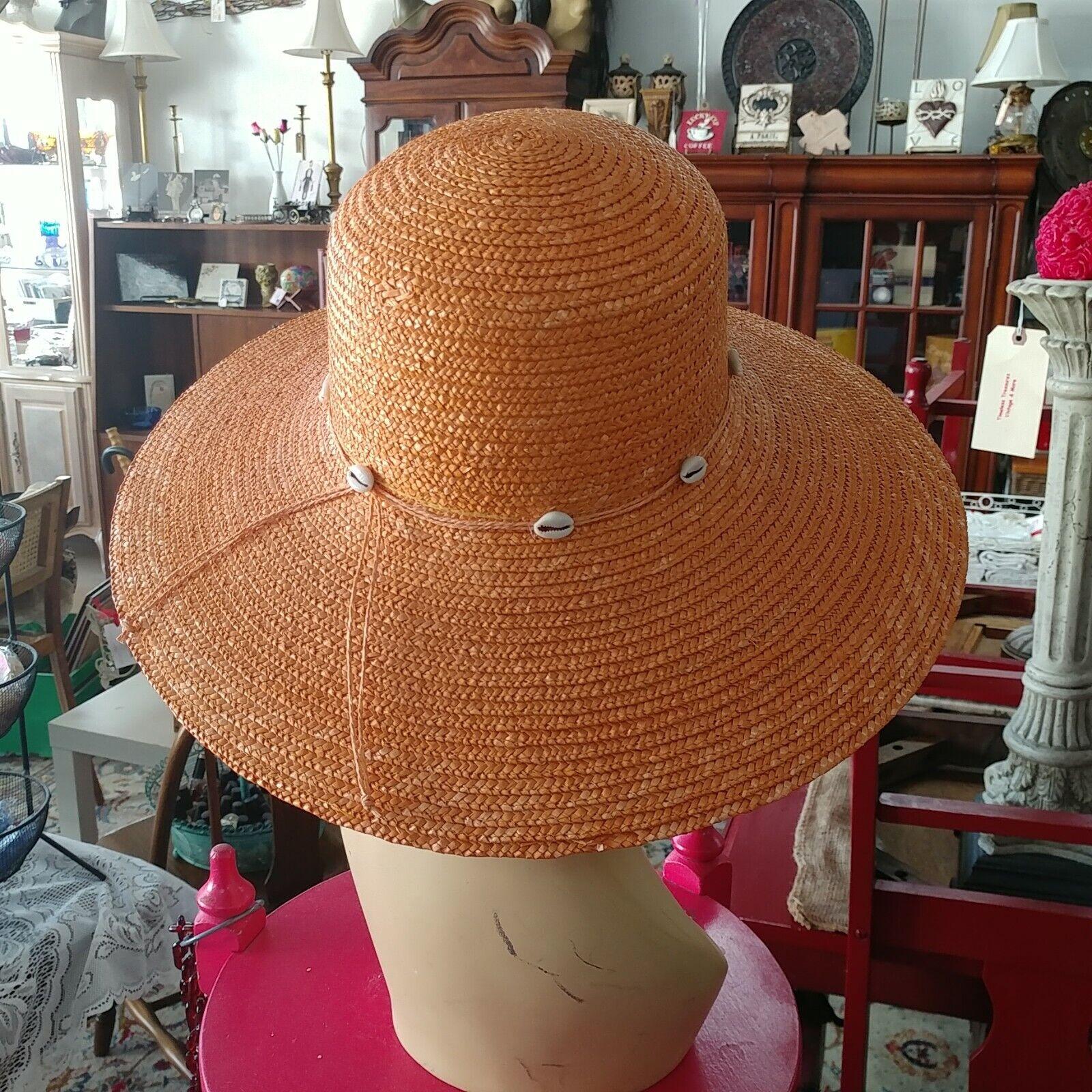 DP Brand Wide Brim Straw Hat - image 2