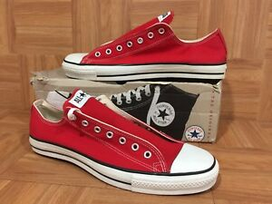 be26633f53a3 VTG🇺🇸 Converse Chuck Taylor All Star Original Lo Red Canvas Made ...