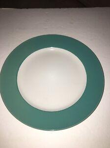 """Royal Norfolk 10 1/2"""" Dinner Plates Set Of 4 Green/White (New)SHIPS N 24 HOURS"""
