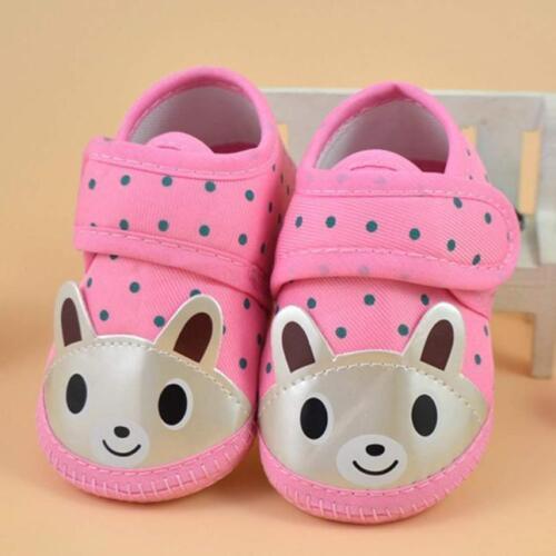Charmant nouveau-né Bébé Fille Garçon ours soft sole Crib Bébé Toile Sneaker Chaussures