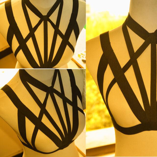 Girl Sexy harness bra Fashion Bondage lingerie evening special Dance Dress