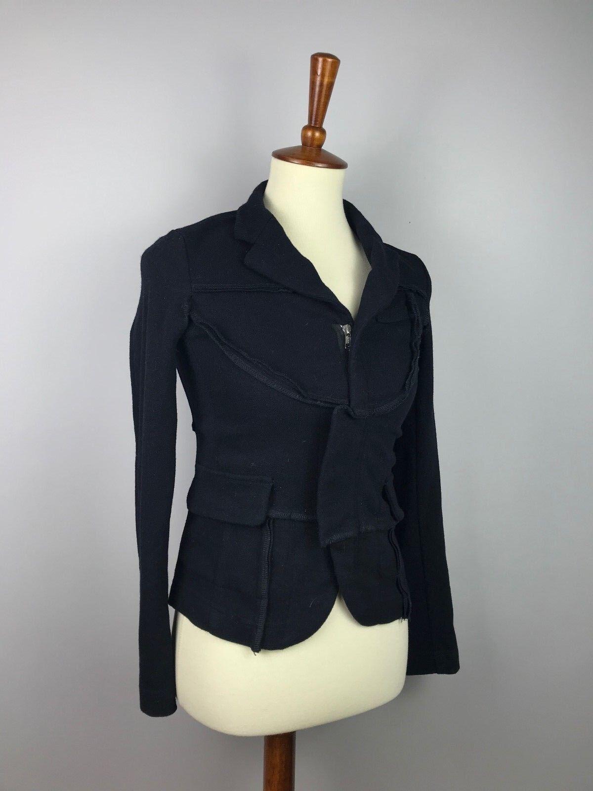 COMME  DES GARCONS X H&M para Mujeres Lana Chaqueta Negra US6 como XS-S Pequeño  vendiendo bien en todo el mundo
