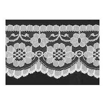 """5 METRES Quality flat Black Lace Trimming  70 mm 2.1/"""" Trim Craft Scalloped Edge"""