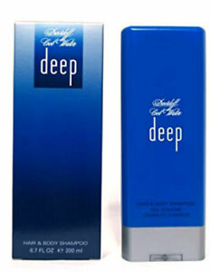 Cool-Water-Deep-for-Men-Davidoff-Hair-amp-Body-Shampoo-6-7-oz-New-in-Sealed-Box