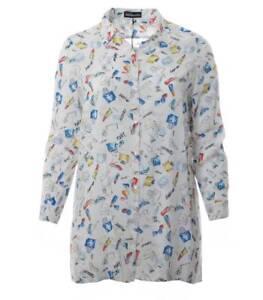 Lang bluse Langarm Bluse Weiß Hemd Größen Damen Weiße Elegant Große Longbluse xF4SO8wnqz
