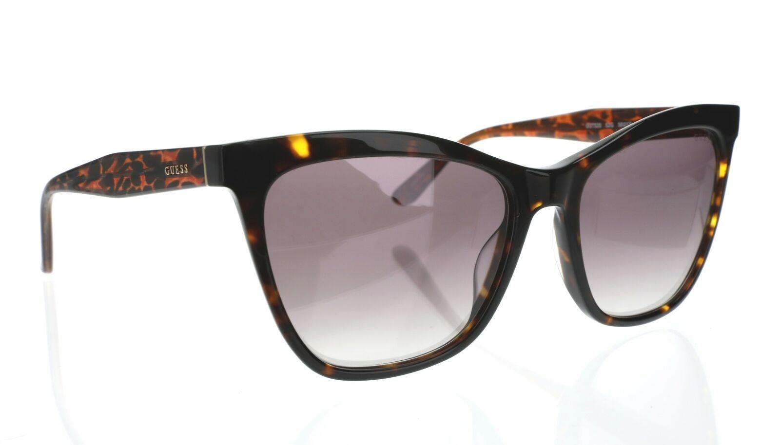 GUESS 255268 Womens Gu7520 Square Sunglasses Dark Havana/Brown