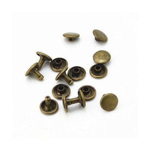 12mm 100pcs Doble Tapa Tubular Metal Remache Redondo Rapid Tuerca para Bricolaje