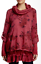 Lola Italy Lace Trim Layered Wool Blend Sweater Red M NWT $125