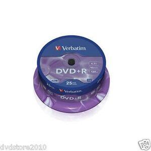 75-DVD-R-Verbatim-16x-4-7-gb-vergini-vuoti-Matt-Silver-dvd-r-120-minuti-43500