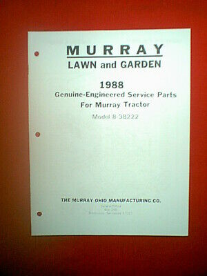 MURRAY TRACTOR / RIDING MOWER WITH TWIN CYLINDER ENG MODEL 8-38222 PARTS  MANUAL | eBay | Two Cylinder Wiring Diagram Murray |  | eBay