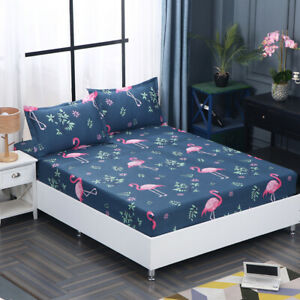 3pcs-Polyester-Fitted-Cover-Pillowcases-Four-Corners-With-Elastic-Band-Bed-Sheet